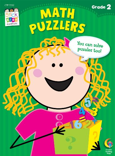 Math Puzzlers Stick Kids Workbook, Grade 2 (Stick Kids Workbooks)