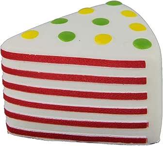 جامبو اسفنجي المثلث الأحمر جولة كعكة تخفيف الإجهاد اللعب