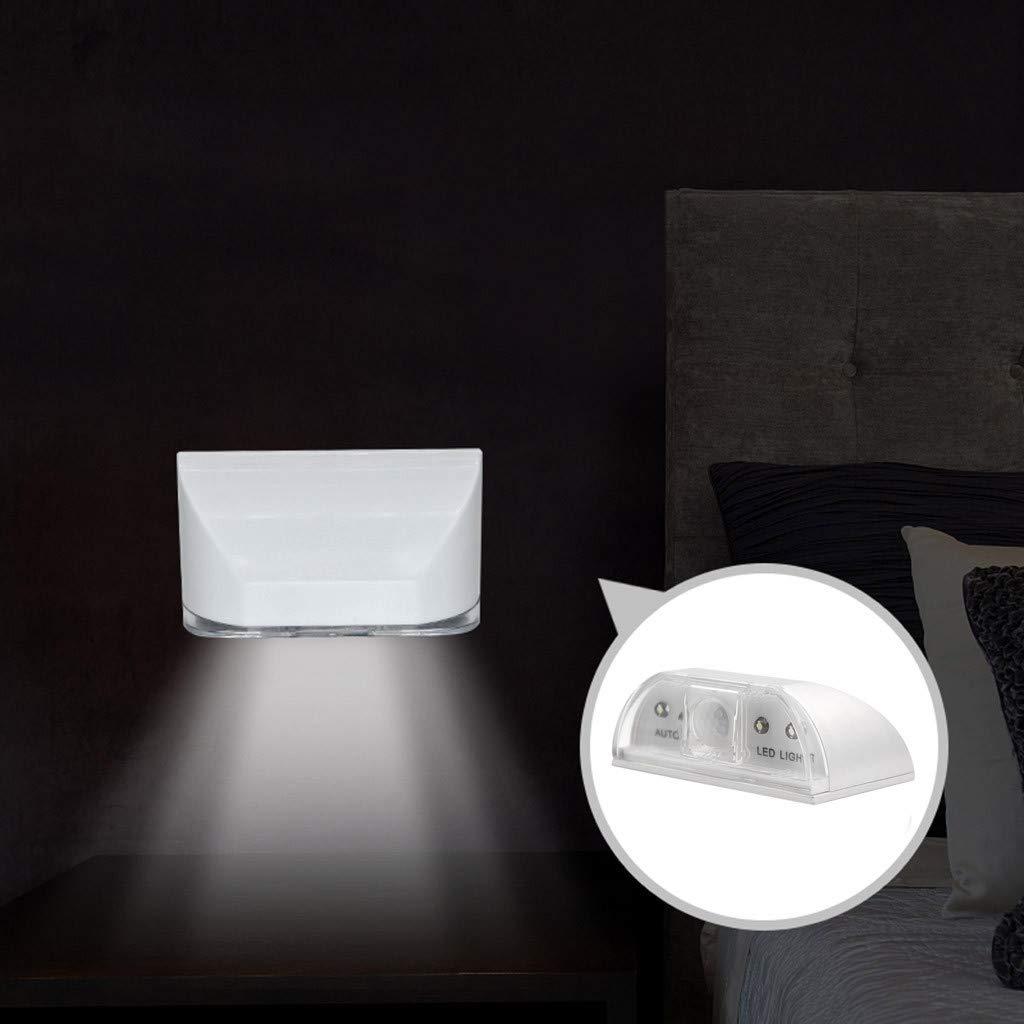Quaanti Door Lock Light with 4 LED, Keyhole Light LED Intelligent Door Lock Cabinet,Key Induction Small Night Light Auto Sensor Lamp for Key Hole, Door Lock, Bedroom, Stairway (White) by Quaanti (Image #5)