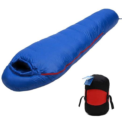 HUOFEIKE Saco de Dormir Momia Que acampa al Aire Libre, Unisex ...
