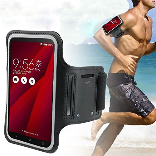 "DFV mobile - Professional Cover Neoprene Waterproof Armband Light Reflecting Wraparound Sport with Buckle for =>      APPLE IPHONE 6 PLUS [5,5""] > Black"