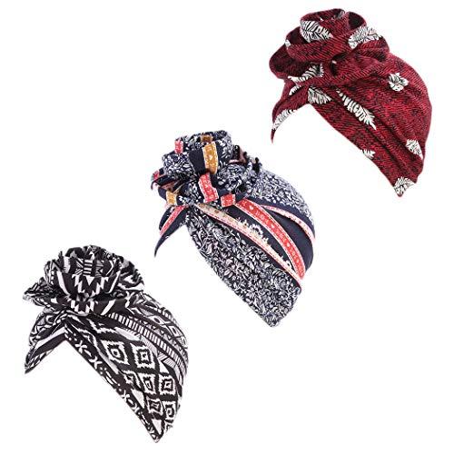 DANMY Women's Autumn Winter Knotted Hat Wrap Cap India's Hat Turban Headwear
