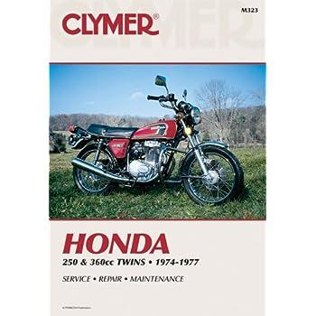 amazon com clymer repair manual for honda 400 450 twin 78 87 rh amazon com
