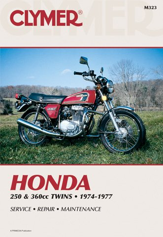Clymer Repair Manual for Honda 250-360 Twin 74-77