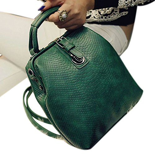 bandoulière étudiant Sac Bracelet Fille fonction PU Femmes Sac Foncé Sackpack multi dos réglable à Sac Boucle main Vert à Style Coréen à Arichtop 4qOxz64Uw
