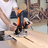 TACKLIFE Plunge and Fixed Base Router, 30,000RPM