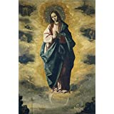 Canvas Prints Of Oil Painting 'Zurbaran Francisco De The Immaculate Conception Ca. 1630' 24 x 36 inch / 61 x 90 cm , Polyster Canvas Is For Gifts And Bed Room, Kitchen And Nursery Decoration, sizes
