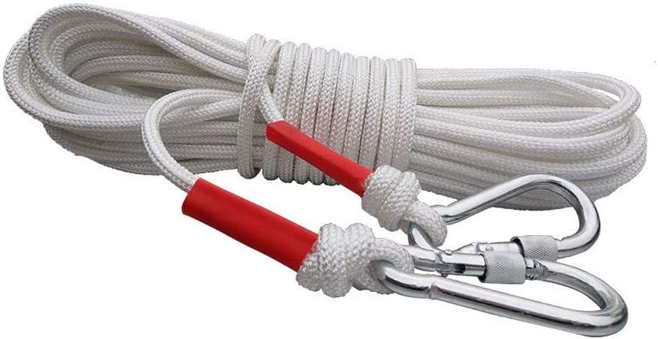 ロープ エスケープロープレスキュー家庭用安全ロープ保険緊急ロープアウトドアクライミングロープ8mmの直径 (Size : 80m)  80m