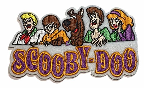 Scooby Doo Group Logo Embroidered Iron On 3 3/4