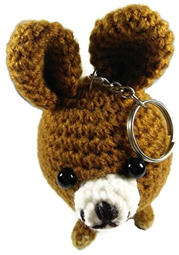 Chic Cute 2 in 1 Hand Knit Keychain Doll, Miniature Pinscher Min Pin Dog (Scottish Girl Halloween Costume)