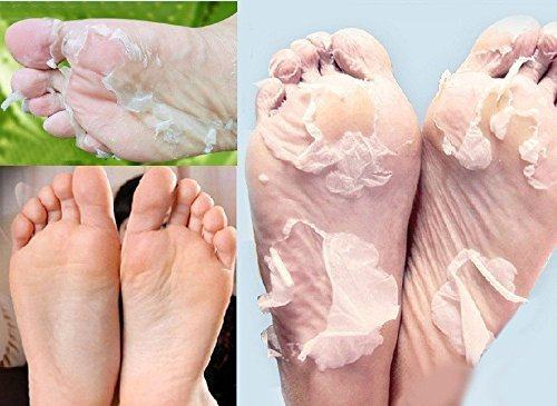 GARYOB 4 Pairs Foot Peel Mask Peeling Renewal Remove Dead Skin Smooth Exfoliating Socks