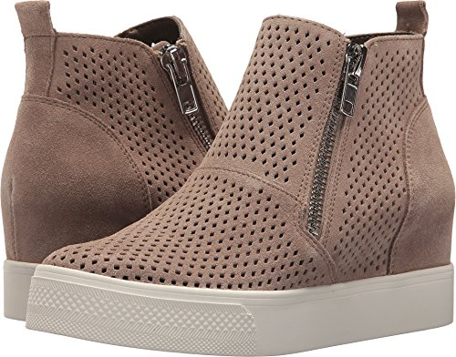 (Steve Madden Women's Wedgie-P Sneaker, Taupe Suede, 7.5 M)