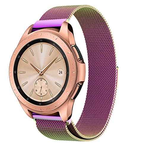 Insaneness Pure Colour Milanese Magnetic Loop Stainless Steel Watch Band for Samsung Galaxy Watch (Multicolor, 46mm)