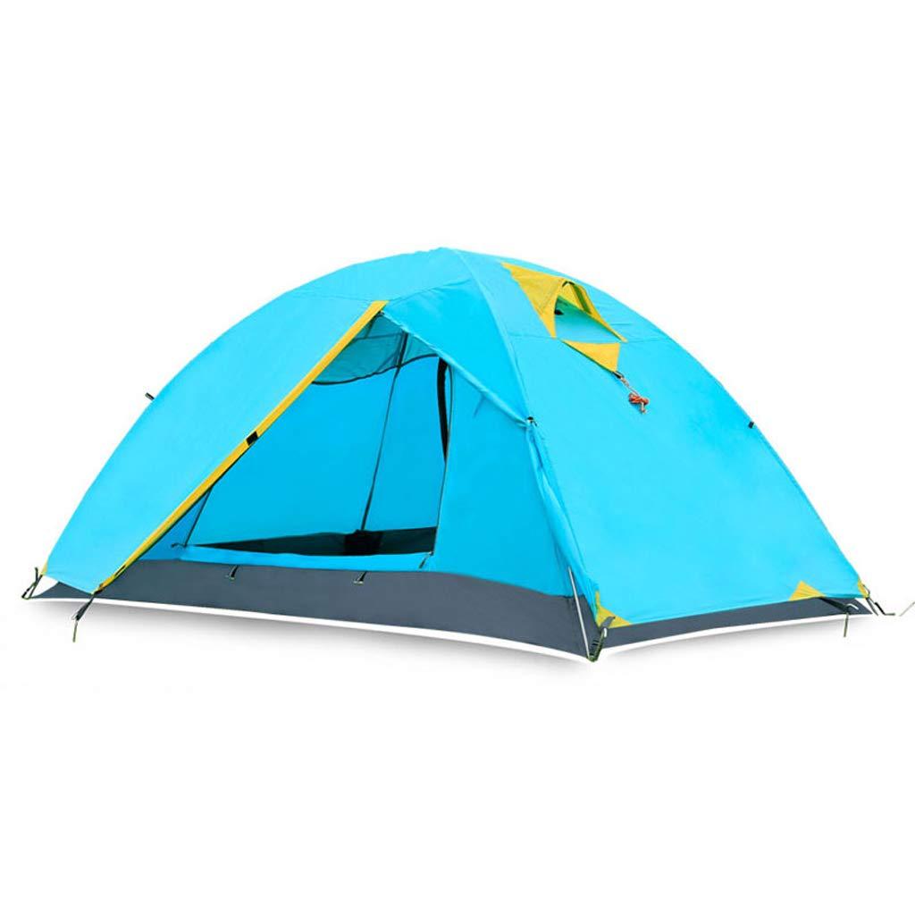 AX-outdoor products Doppeltes kampierendes Überdachungszelt des Zeltes im Freien Doppeltes Wasserdichtes Markisenpolyestertuch/Blaue Farbe 200  140  110cm