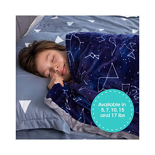 Cheap Florensi Weighted Blanket for Kids with Removable Bamboo Duvet Cover (7 Lbs & 41