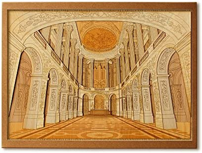 KINOWA 「ヴェルサイユ宮殿」 木はり絵 オリジナル 手作り キット 世界の城 フランス 日本製