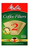 melitta reusable - Melitta 622752 100 Count #2 Natural Brown Cone Coffee Filters