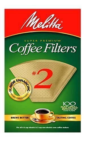 - Melitta 622752 100 Count #2 Natural Brown Cone Coffee Filters