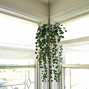 HO2NLE 6 Feet 4PCS Artificial English Ivy Leaves Greenery Garland Fake Hanging Plants Faux Foliage Garden Wall Stairway Party Wedding Outside Decorations 4