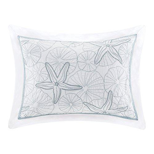 Maya Bay Cotton Embroidered Oversized Comforter Set, King, White ()