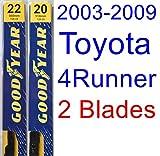 2003-2009 Toyota 4Runner Replacement Wiper Blade Set/Kit (Set of 2 Blades) (Goodyear Wiper Blades-Premium) (2004,2005,2006,2007,2008)