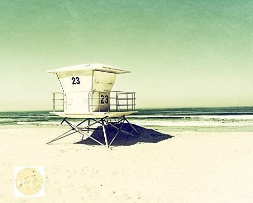 Amazon.com: Lifeguard Tower Print | Tower 23 Pacific Beach