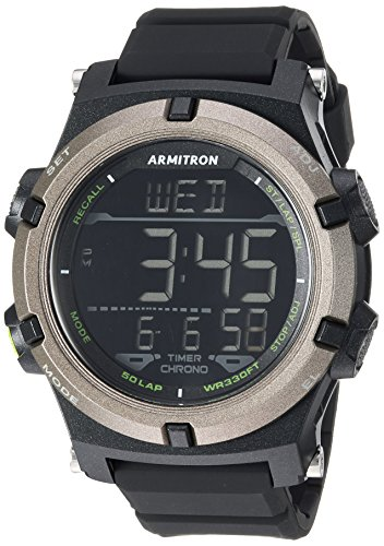 Armitron Sport Men's 40/8438BLK Digital Chronograph Black Resin Strap Watch