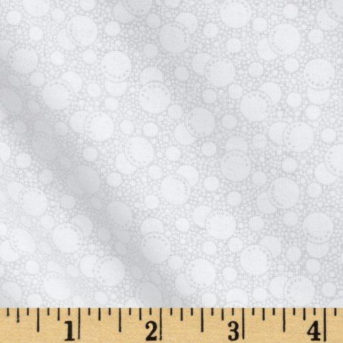 Santee Print Works Tone On Tone Dots White/White Fabric by The Yard, White/White