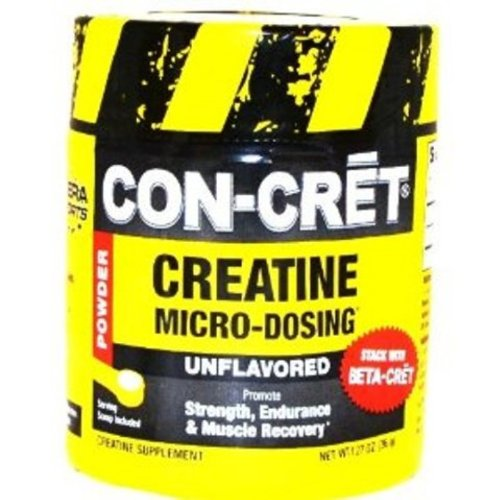Con-Cret créatine avec micro-dosage Unflavored 48 portions, 1,27 once bain