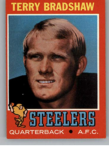 Football NFL 1971 Topps #156 Terry Bradshaw EX RC Rookie Steelers