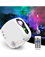 Sky LED Projector Night Light, 4-in-1 LED Moon Nebula Cloud 360° Rotating Star Light Galaxy Projector with RF Remote Controller,Bluetooth Speaker for Kids Baby Home and Christmas Gift