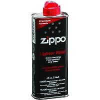 Zippo Unisex - Volwassen Original f. Benzine aanstekers 125 ml met kunststof ventiel, zwart, 1-pack