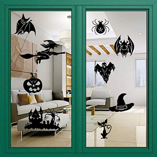 Keep Comfort 1 Set Halloween Witch Wall Stickers Vinly Waterproof Removeable Decals Poster Window Door Glass Home Decor