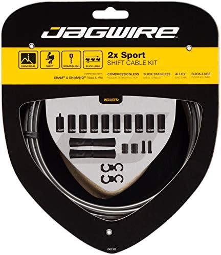 Gris Jagwire 2X Sport Shift Kit Gaines et c/âbles de d/érailleur Adulte Unisexe Taille Unique