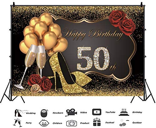 Zhy Shining Champagne Diamonds Backdrop 7X5FT Children Adult Birthday Photography Background YouTube Photo Studio Prop Customize LLST398