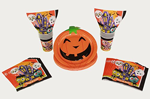 Halloween Decorations Pumpkin Plates