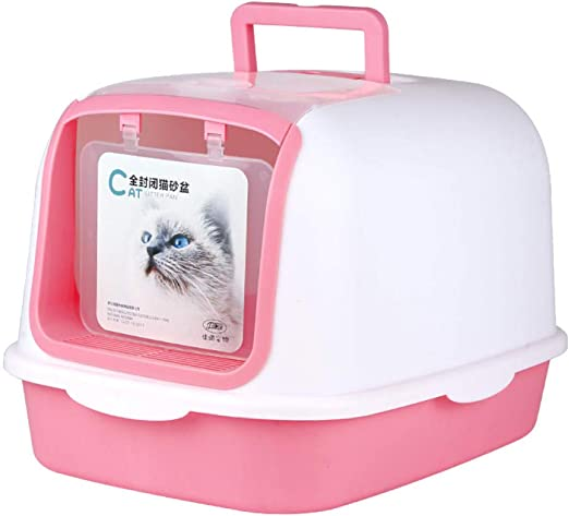 Inodoro para Gatos-Caja de arena completamente cerrada Plegable de ...