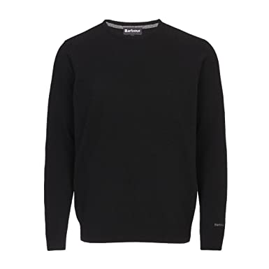 famous brand aliexpress lace up in Barbour Men's Essential Lambswool Crew Neck Jumper - Black