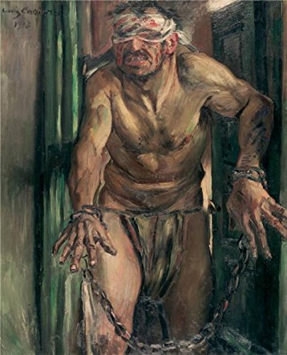Oil Painting 'Lovis Corinth-The Blinded Samson,1912', 18 x 22 inch / 46 x 56 cm , on High Definition HD canvas prints is for Gifts And Basement, Bed Room And Dining Room Decoration, pop