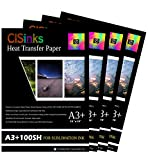 CISinks 400 Sheets A3+ 13'' x 19'' Inch 100gsm Thick Sublimation Inkjet Heat Transfer Paper