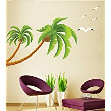 DGI Mart Coconut Tree Large Palm Tree Seagull Removable Wall Decal Sticker by DGI MART