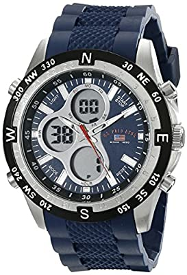 U.S. Polo Assn. Sport Men's US9137 Blue Silicone Analog Digital Sport Watch from U.S. Polo Assn. Sport