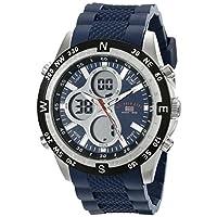 Asociación de Estados Unidos de Polo. Sport US9137 reloj deportivo digital analógico de silicona azul azul