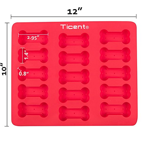 Ticent Dog Paws & Bones Cake Pan, Food Grade Silicone Dog Treats Baking Molds for Kids, Pets, Dog-lovers Cookie Cutter, 12 by 10 inch by Ticent (Image #1)