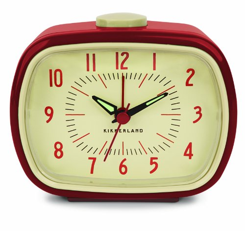 Retro Alarm Clock - Color: Red
