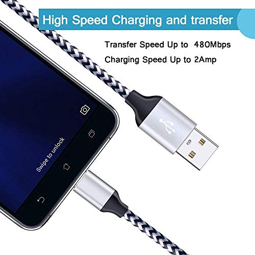 Type C Charging Adapter, NINIBER 6Ft Charger Cable Cord Charger Compatible  Nokia 7 1 6 1 8 Plus Samsung Galaxy S9 S8 A3/A5/A7 2017,A8 2018/Tab S3/C9