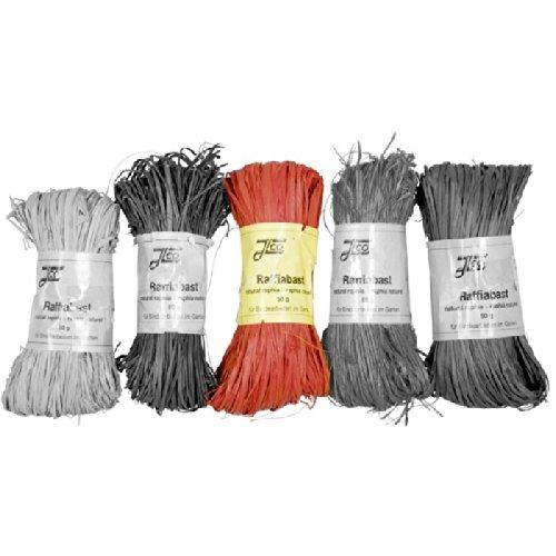 efco–Giardino Rafia, rafia, rosso, 50g efco-Giardino Rafia 1007328