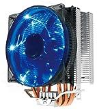 PcCooler X4 120mm/12cm 4 Heatpipes CPU Cooler Blue LED Fan 4Pin Quiet Fan for AM2 AM3 AM4 Intel 775 1150 1151 1155 1156 2011 X99
