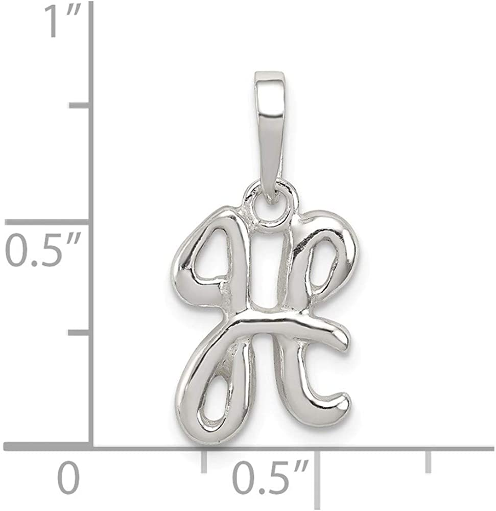 White Sterling Silver Charm Pendant Themed 15-17 mm 9-13