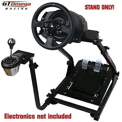 GT Omega Lenkradständer PRO für Thrustmaster T300RS Force Feedback Gaming Wheel & TH8A Shifter Mount V1 - PS4 Xbox Fanatec Cl